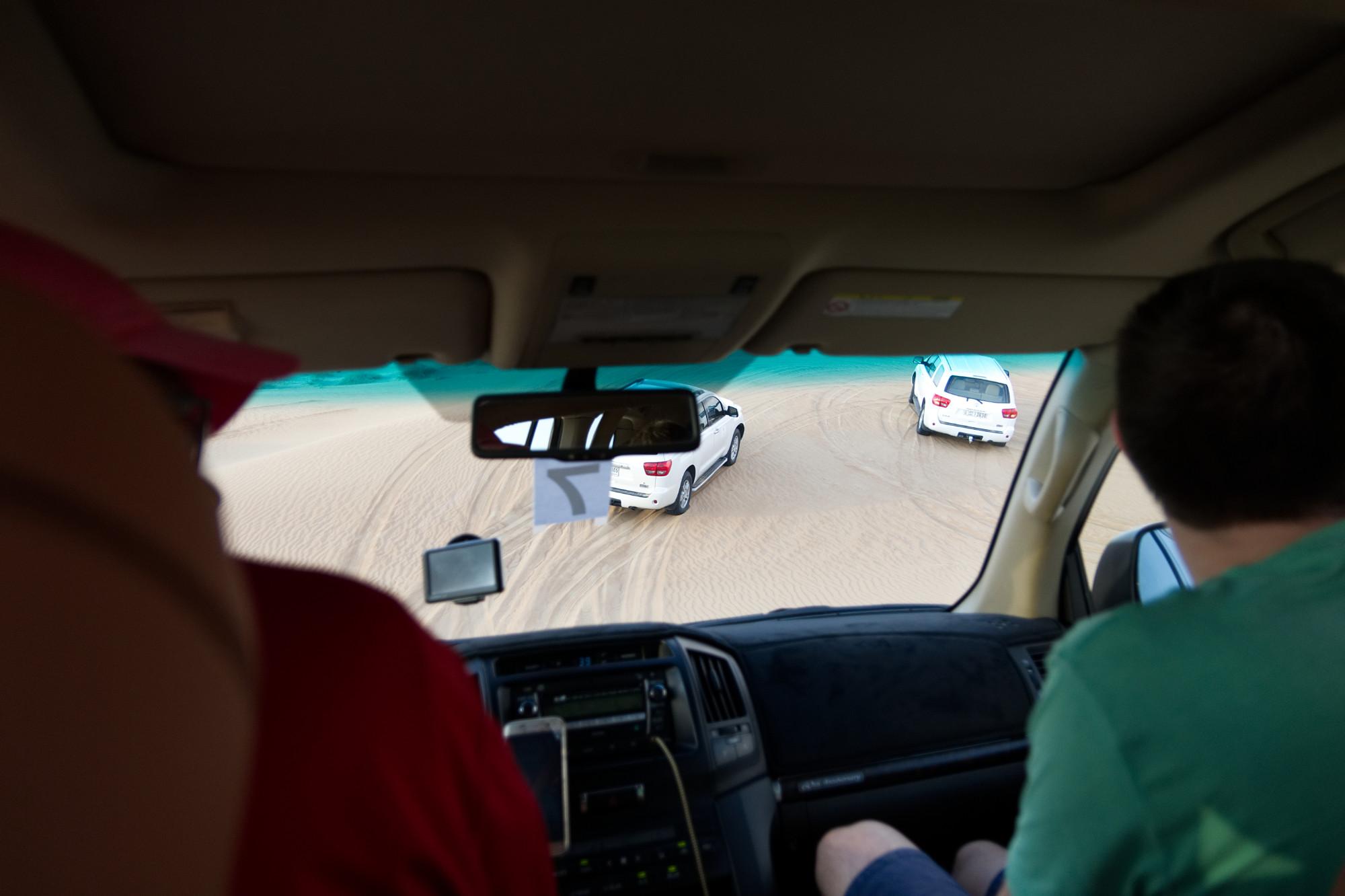 Jeepsafari in der Wüste Dubais