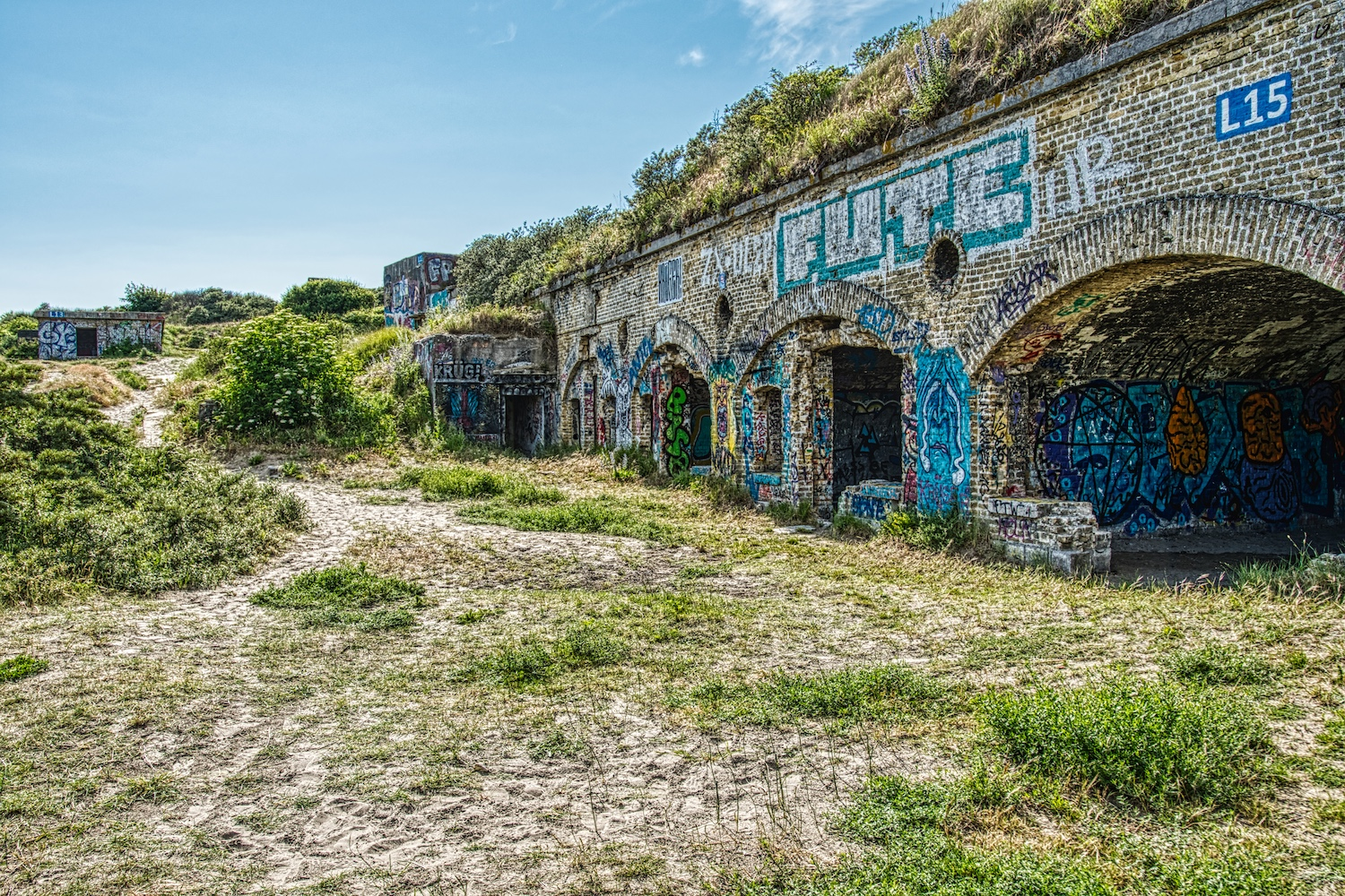 Remains of bunkers from the Second World War