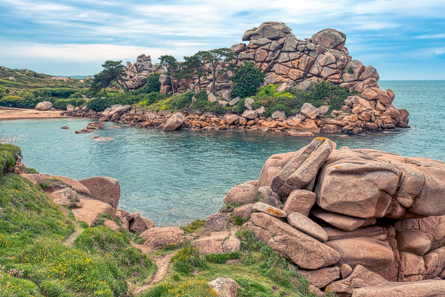 The Pink Granite Coast near Ploumanach