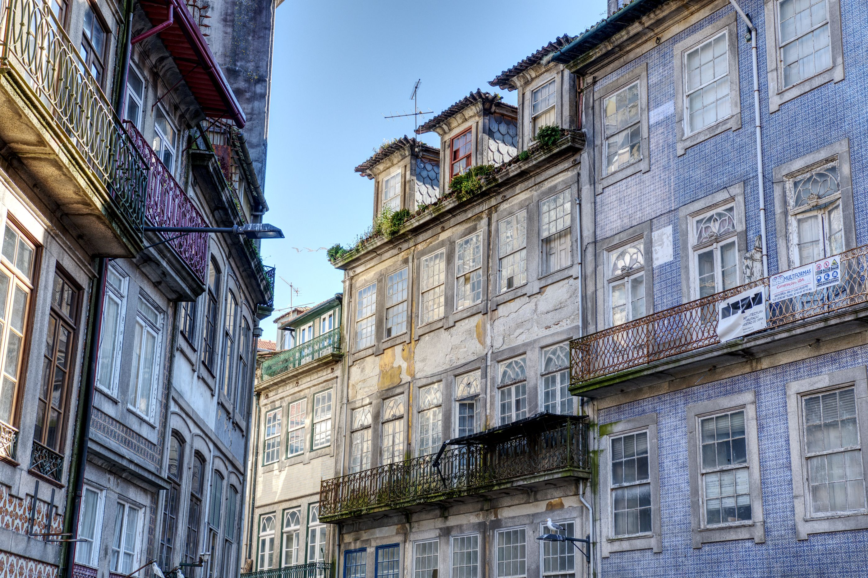 Historic house fronts in Porto's Old Town