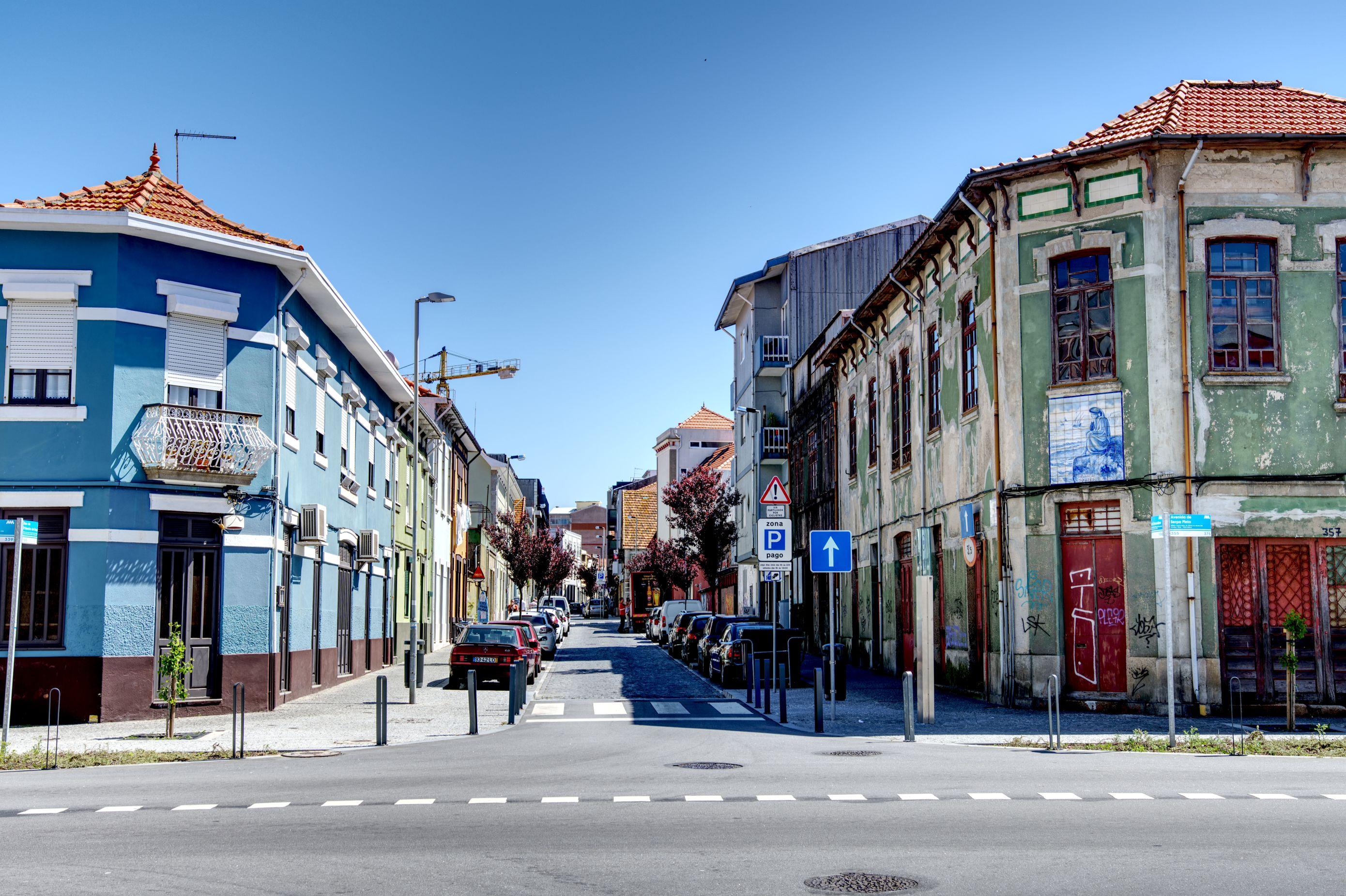 Strassen im Viertel Matosinhos