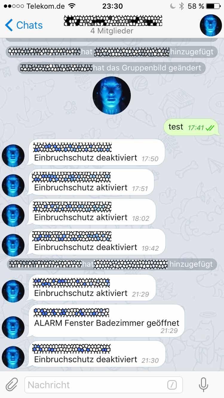 homematic: benachrichtigungen von ccu per telegram-bot an gruppe
