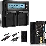 Blumax Gold Edition Akku EN-EL15 2040mAh + Doppelladegerät EN-EL15 Dual Charger   passend zu D7000 D7100 D7200 D500 D600 D610...
