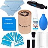8-in-1 Reinigungsset für Kamera und Objektiv (Flüssig-Reiniger, Blasebalg, Pinsel, Lens-Pen, Mikrofasertuch UVM.) DSLR Lens-Aid...