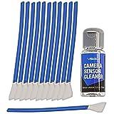 VSGO Kamera APS-C Sensor Reinigungs Kit für 6 bis 12 Reinigungen, 12x Swab 16mm staubfrei, vakuumverpackt 15ml Flüssigreiniger