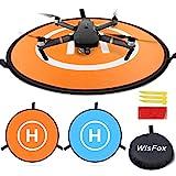 WisFox Drone Landing Pad, Universal Waterproof D 75 cm / 30 '' Tragbare faltbare Landing Pads für RC Drones Hubschrauber, PVB...