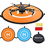 WisFox Drone Landing Pad, Universal Waterproof D 75 cm / 30 '' Tragbare faltbare Landing Pads für RC Drones Hubschrauber, PVB...