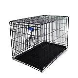 Simply Maison   Hundekäfig   Transportbox   Drahtkäfig mit 1 oder 2 Türen   Tragegriffen   Mit oder ohne Rollen   ( Größe S -...