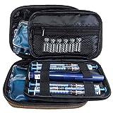 Insulin-Kühltasche – Diabetiker Organizer – tragbare medizinische Reise-Kühltasche + 4 Kühlakkus (braun)
