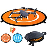 LVHERO Drohne Landeplatz, Wasserdichte Universal D 110 cm Tragbare Faltbare Landing Pads für RC Drones Hubschrauber, PVB-Drohnen, DJI Mavic Pro Phantom 2/3/4 / Pro, Antel Robotic, 3DR Solo