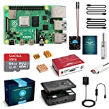 LABISTS Raspberry Pi 4 Model B 4 GB Ultimatives Kit mit 64GB Class10 Micro SD-Karte, 5,1V 3,0A USB-C EIN/Aus-Schaltnetzteil, 3...
