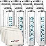 16er Kombipack Panasonic Eneloop Akkus 8 AA/Mignon, 8 AAA/Micro Hochleistungs Akku Batterien in Kraftmax Akkuboxen V5