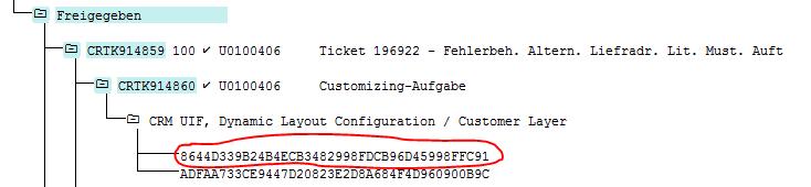 Name der SAP CRM Komponente für alternative Lieferadresse im WebUI