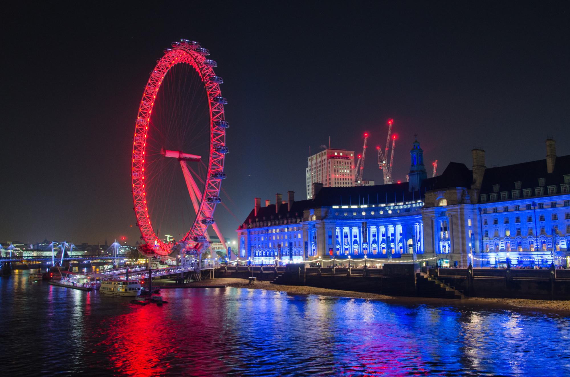 London zwischen den Jahren 2016 und 2017