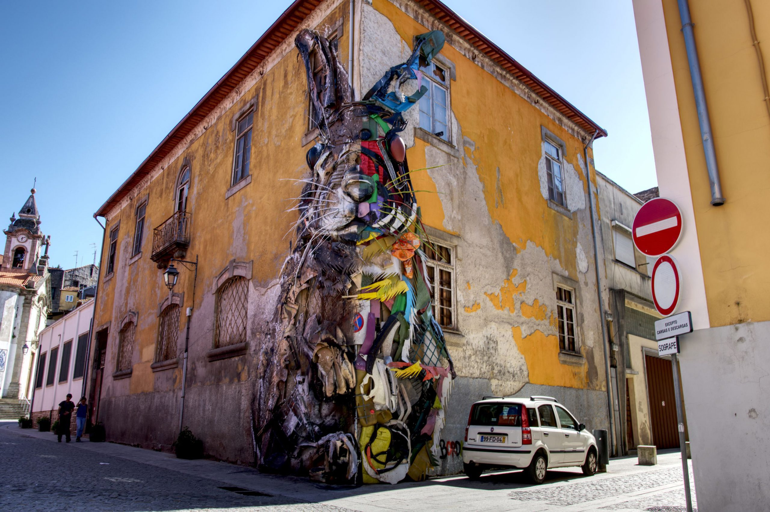 On the Gaia side of the Douro River you will find numerous street art installations