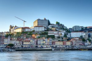 View of Porto's old town from the Gaia side