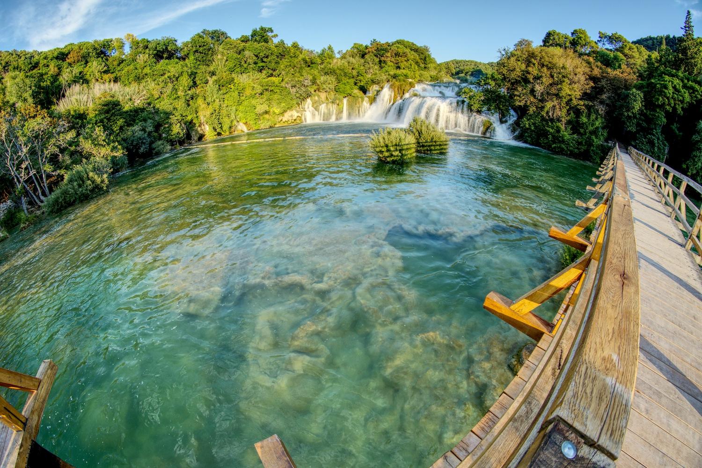 Der Große Wasserfall im Krka Nationalpark