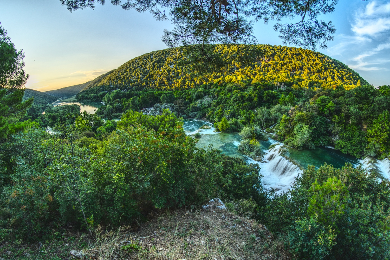 Am Ende der Route durch den Nationalpark Krka bietet sich uns ein tolles Panorama