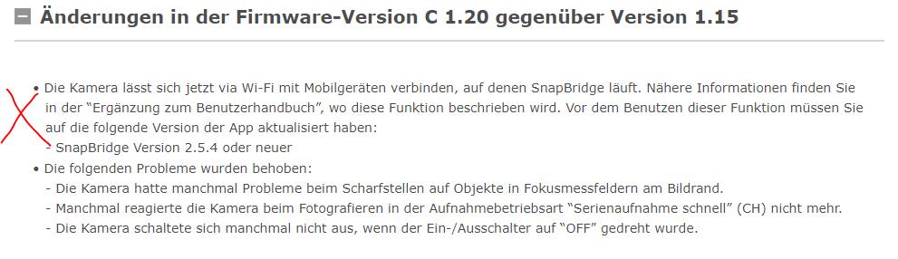 Offizielle Nikon Release Notes vom 28.04.2019