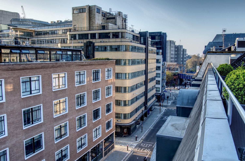 Blick von unserer Dachterrasse des Chamberlain Hotels