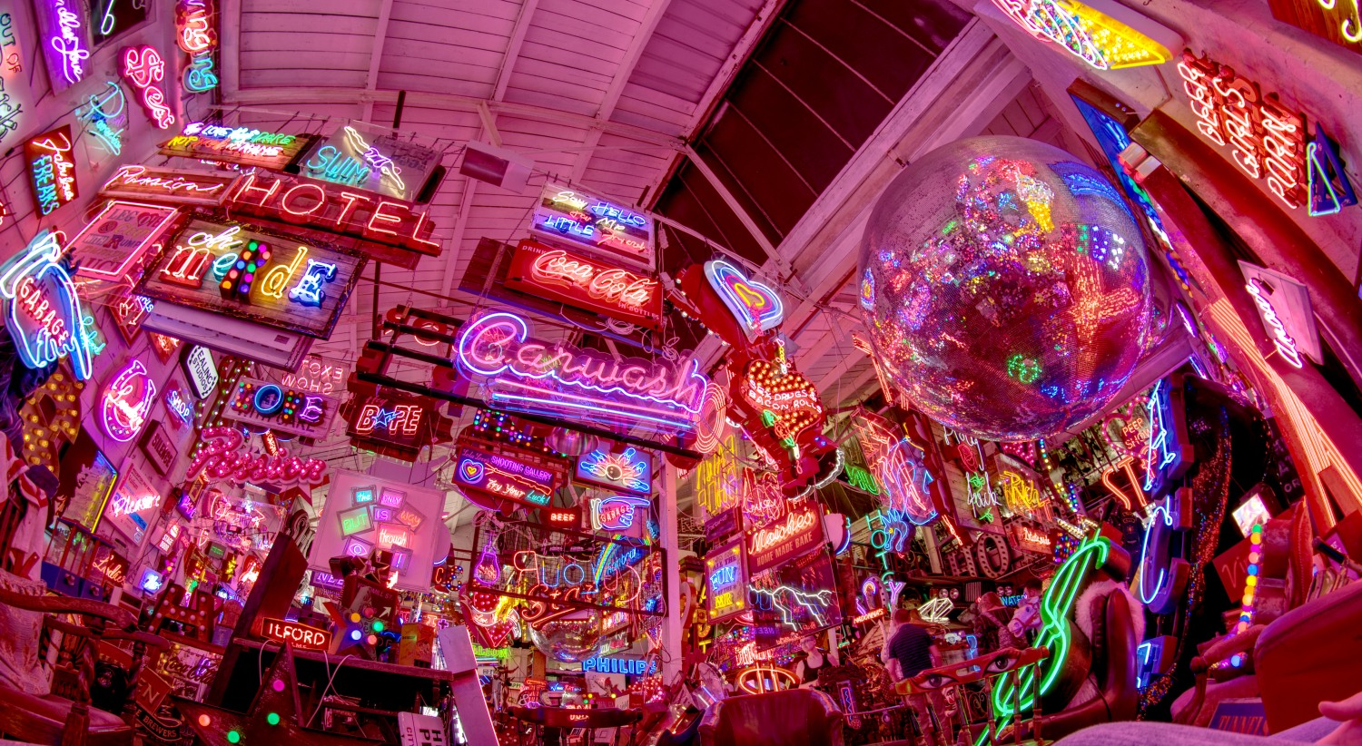 God's own junkyard: electric neon signs as far as the eye can see