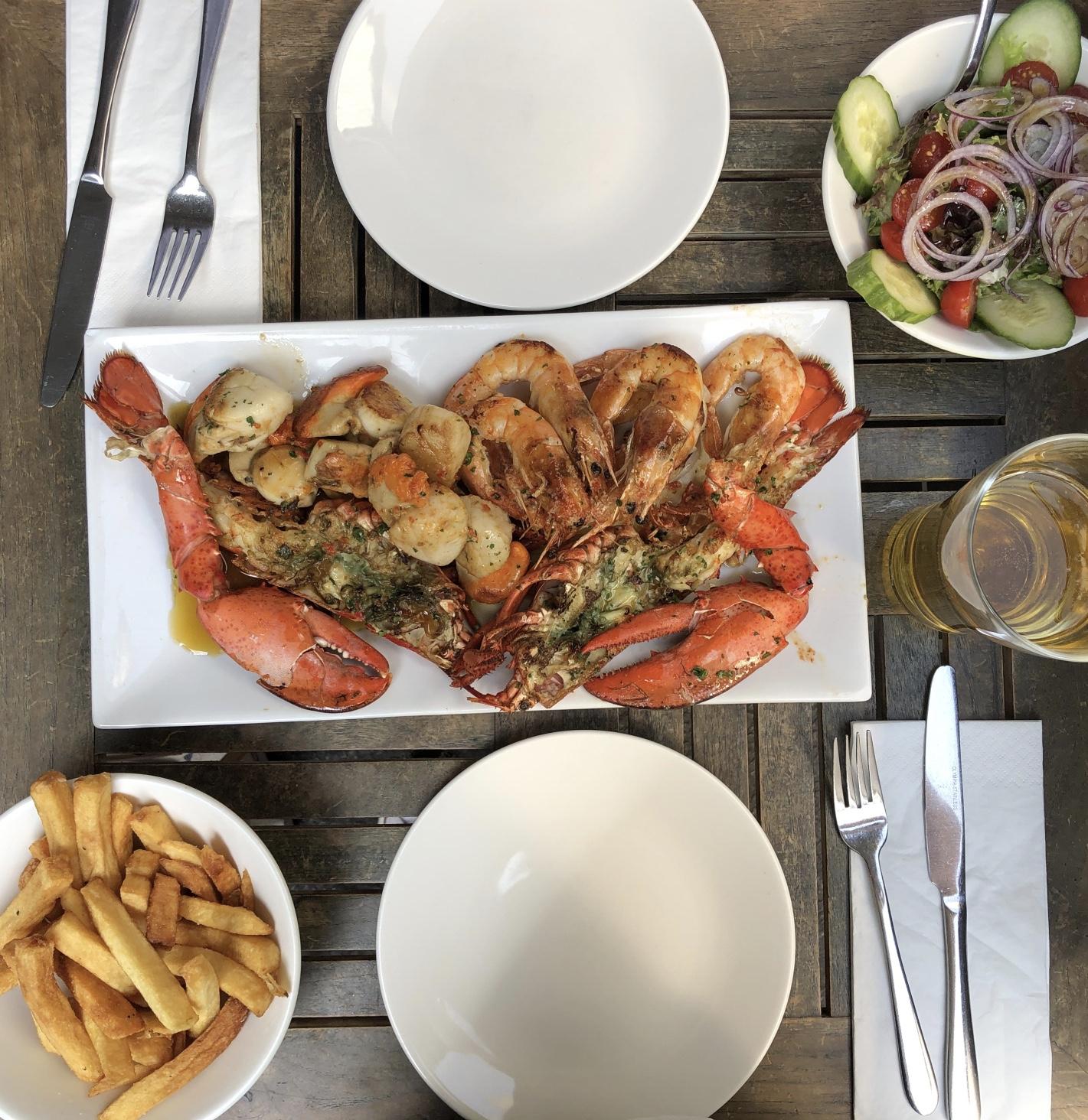 """Fischplatte in """"Applebees Fishrestaurant"""""""