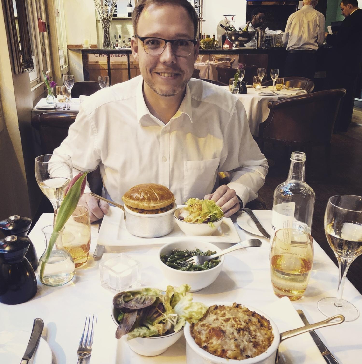 """Abendessen in """"Chamberlains Fishrestaurant"""" im Leadenhall Market"""