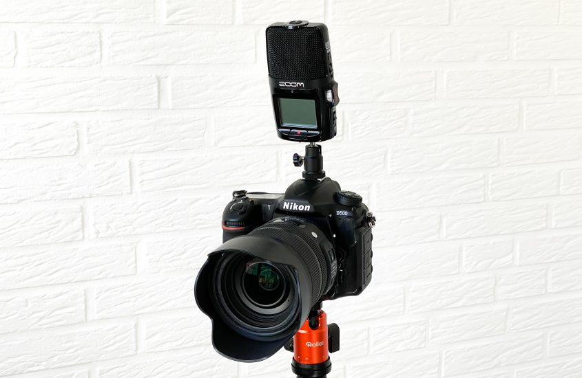 Zoom H2n as an external microphone on the DSLR