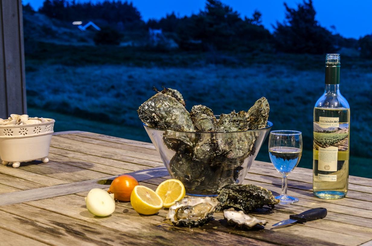 Frische, selbstgefangene Austern aus Lemvig