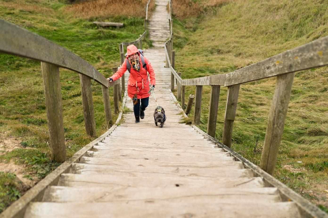 Treppe entlang der Steilküste von Bovbjerg