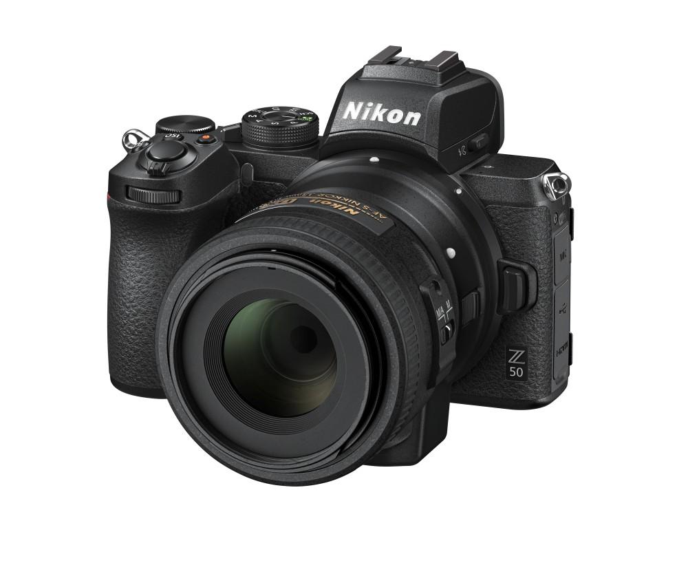 Nikon Z50 mit FTZ-Adapter und 35mm DX 1.8 Objektiv