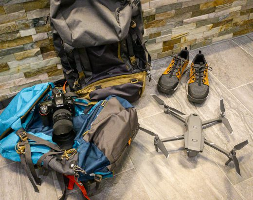 Backpacks, Camera and Videodrone