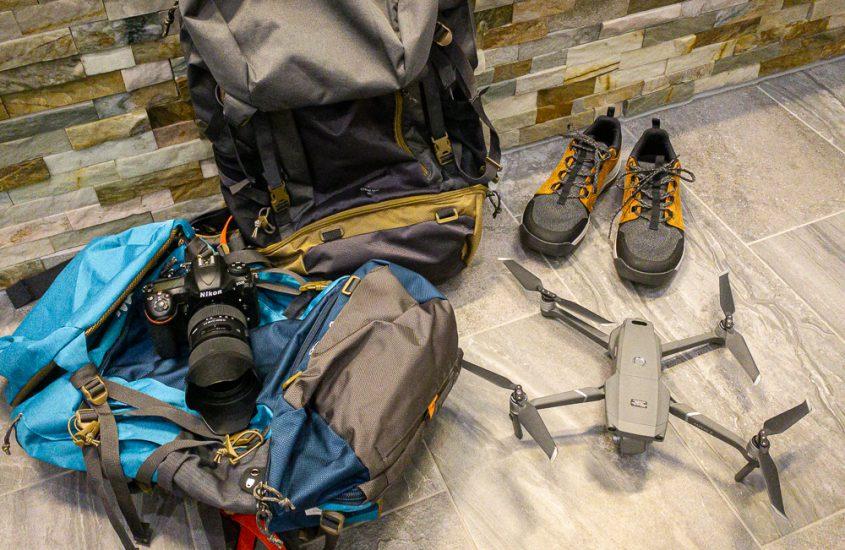 Leicht aber sicher: Mavic Pro 2 Drohne Bei Wanderungen und Backpacking transportieren
