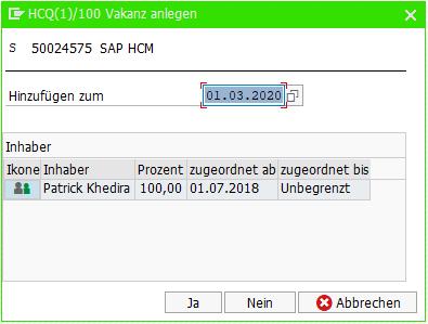 SAP HCM: Vakanzen Pop-Up bei Maßnahme in PA40 anzeigen / ausblenden