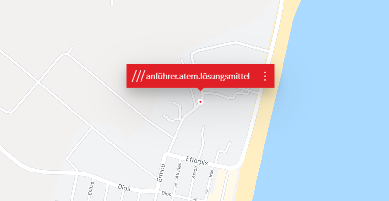 """Positioning with """"what3words"""" also works without street names"""