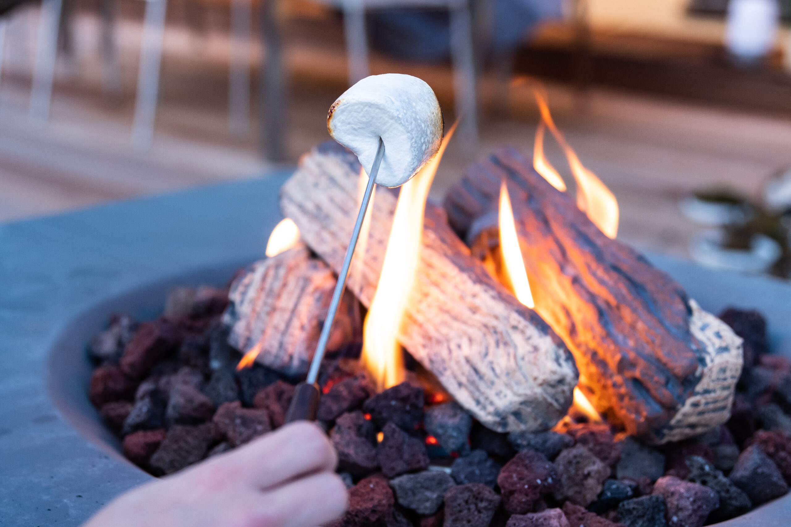 Fire Table On the Terrace: No Smoke, No Smell, No Dirt