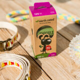 Eco-friendly dog waste bags in eco-friendly packaging