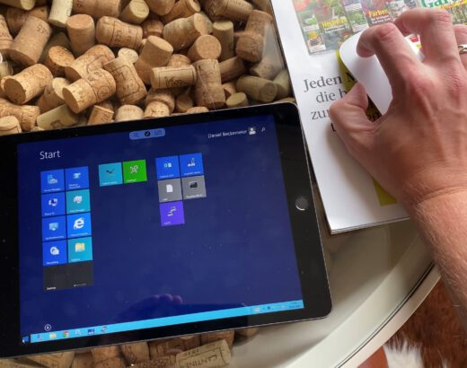 Operate remote desktop session from iPad with the mouse