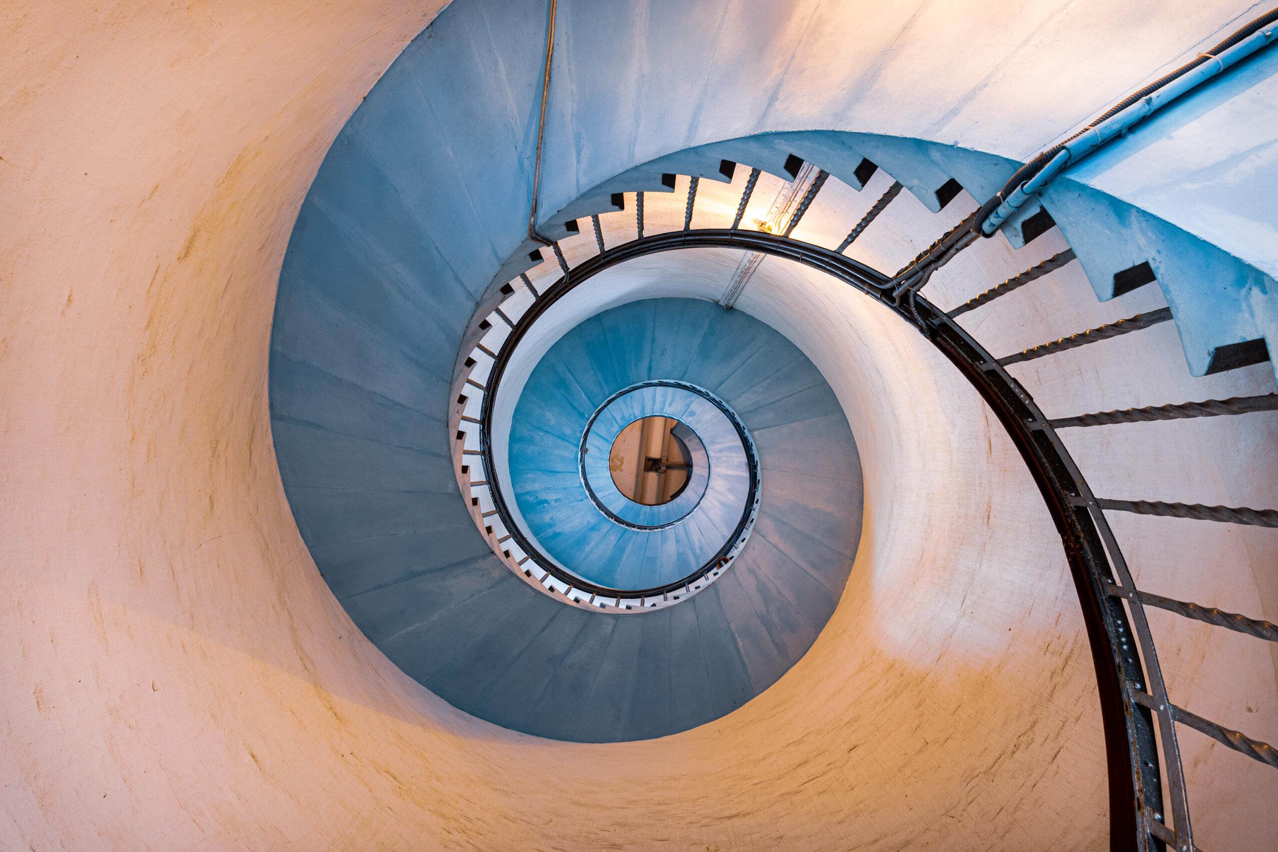 Lighthouse Staircase Lyngvig Fyr -Sigma 18-35mm - 18mm - F8 - 1 Sec - ISO100 - Nikon D500