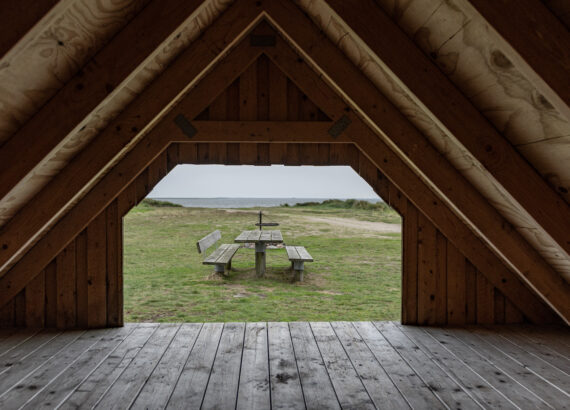 View from the Shelter cabin to Ringkobing Fjord