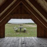 Blick aus der Shelter-Hütte auf den Ringkobing Fjord