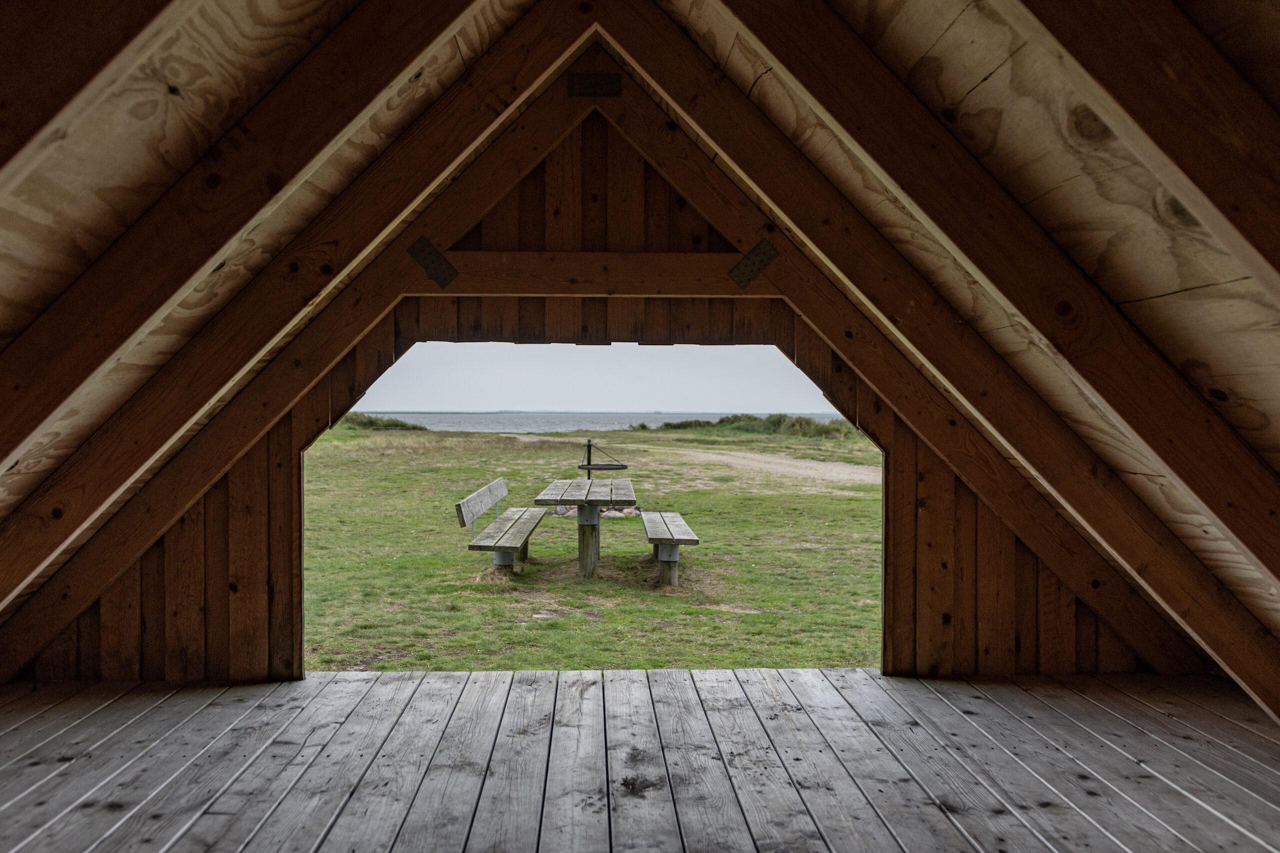 Übernachten in der Shelterhütte am Ringkobing-Fjord
