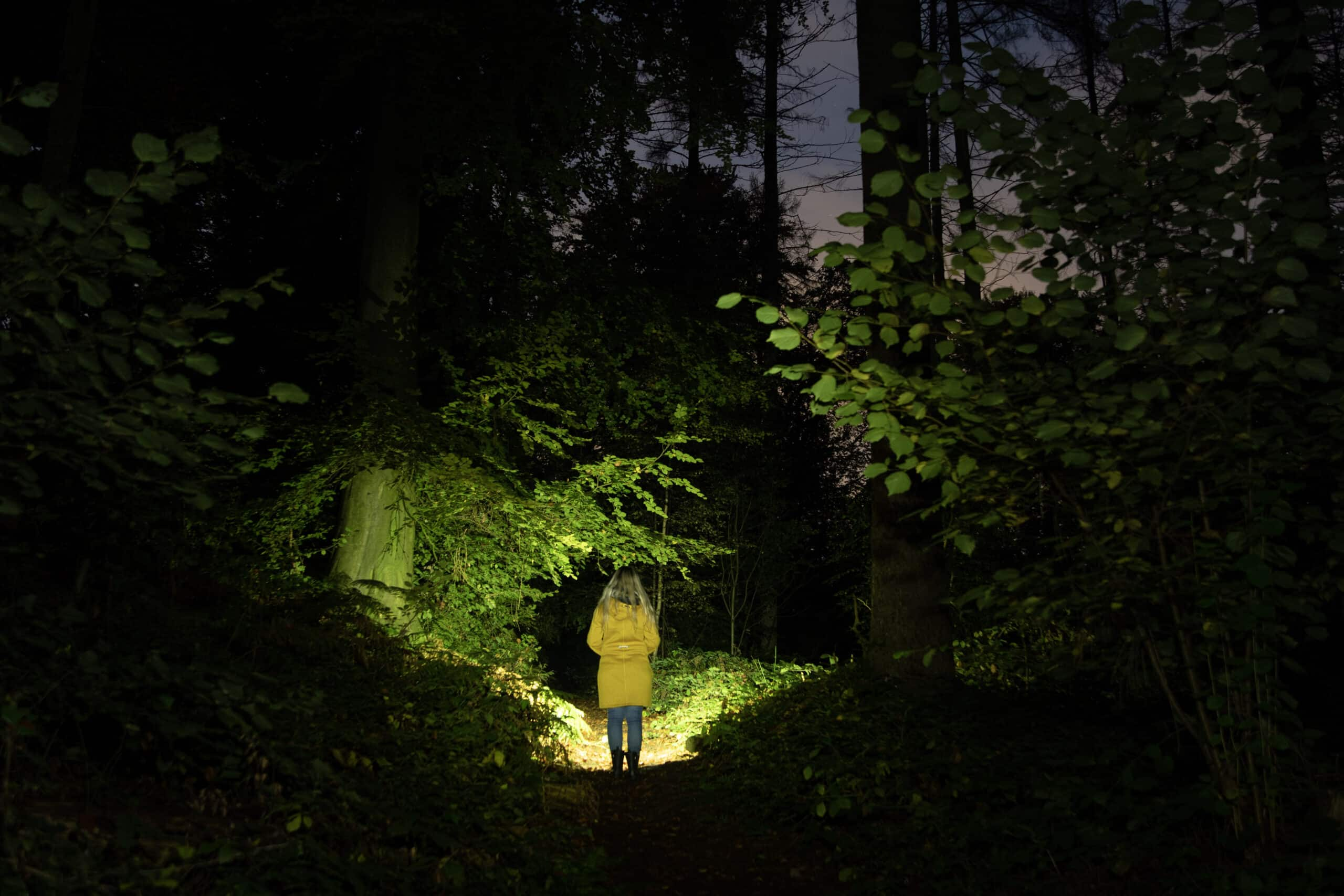 Taschenlampe für Beleuchtung bei Outdoor Fotoshootings und Landschafts-Fotografie