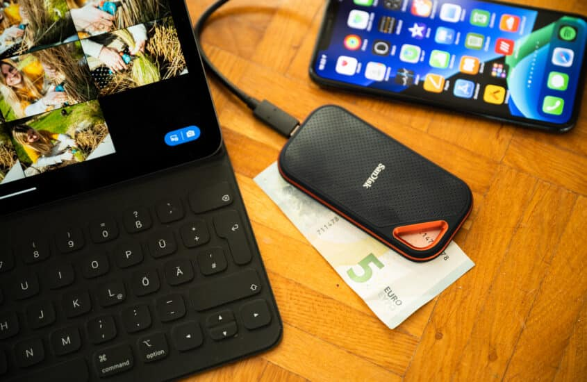 External SSD for backups and Final Cut media libraries – in the office and on the road