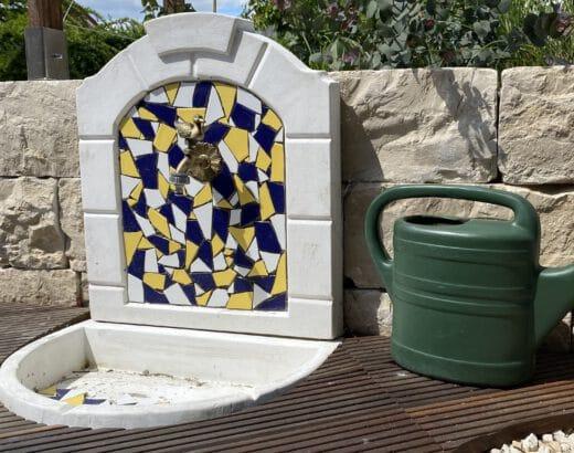 Mosaik aus Fliesenbruch selber legen
