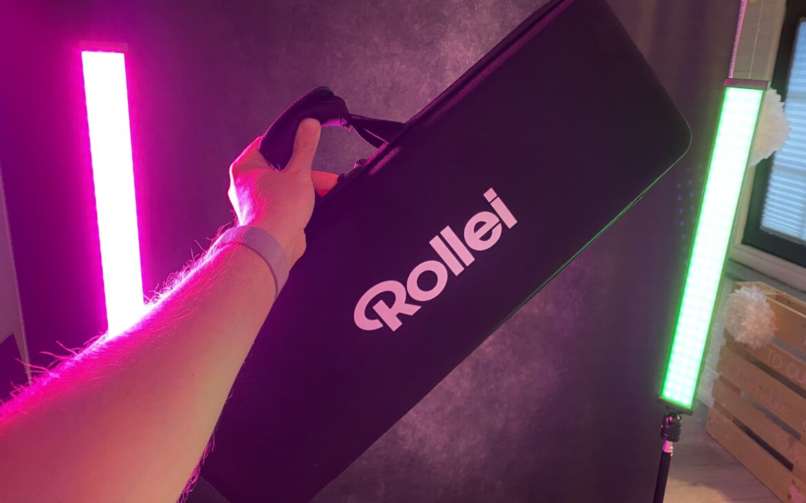 High-quality soft case in which the Rollei Lumen portable light fits even with batteries inserted.