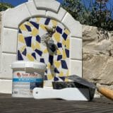 Grouting in wet areas: Algae repellent, waterproof with special pool grout.