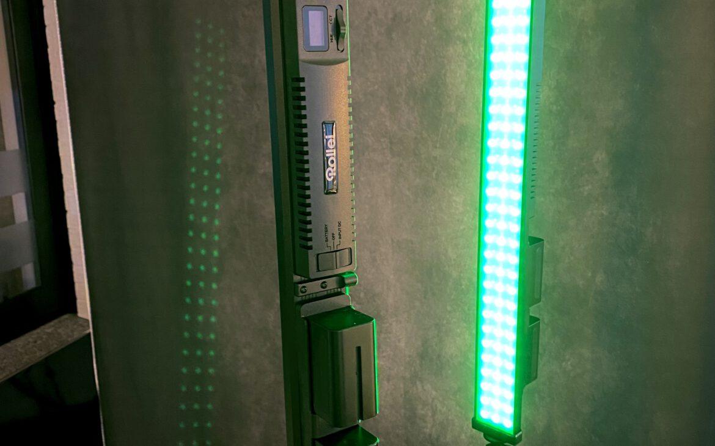 Meine zwei Rollei Lumen Stableuchten geben flickerfreies Licht für den Videodreh ab - egal ob im Weiß- oder im Farbmodus.