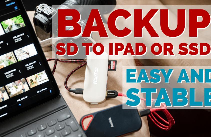 Zuverlässiges Backup von SD-Karte auf iPad oder externen Speicher (HDD, SSD) 2021