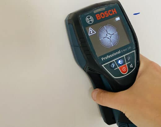 Bosch D-Tect 120 Cable finder - easily locate pipes and cables in walls